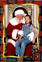 Карина и Санта-Клаусс.