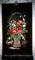 панно : корзина с цветами