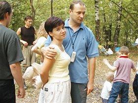 Polett с мужем.