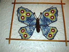 Бабочка вязаная крючком