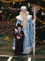 Рон из Гарри Поттера с Дедом Морозом