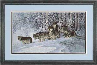 da. lobos en la nieve