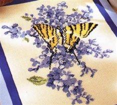 cm.Mariposa azul