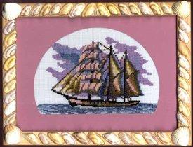 кораблик в рамке