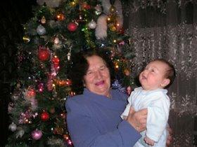 В Новый Год с любимой прабабушкой!