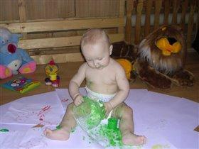 'Изучаю зеленую краску'