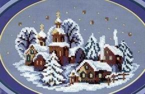 Пейзаж 'Зимний городок'