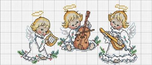 Трио рождественских ангелов
