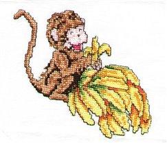 Обезьянка с бананами