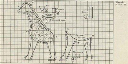 Жираф-Выкройка