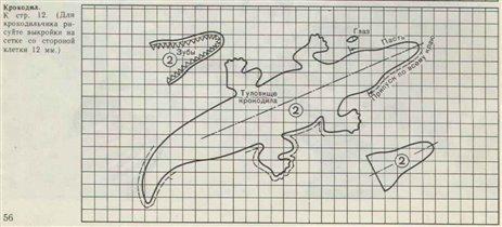 Крокодил-выкройка