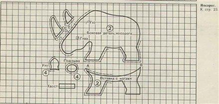 Носорог-Выкройка