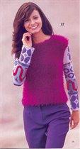 пуловер с жаккардовыми рукавами 1