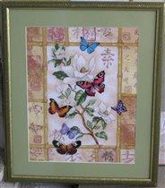 Бабочки+иероглифы