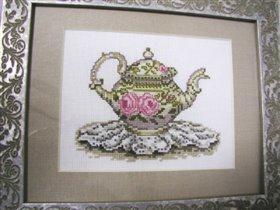 Чайник с розами