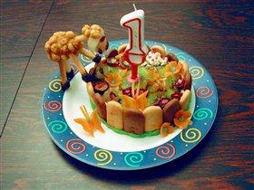 Персональный дочкин тортик к годику
