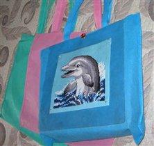 Cумка с верваковским дельфином.