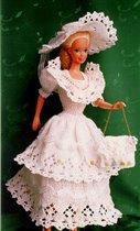 Вязаный костюм для Барби