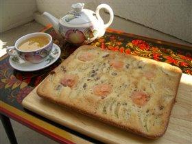 Яблочно-абрикосовый пирог