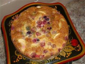 Яблочно-ягодный пирог...