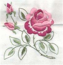 Фрагмент скатерти с розами