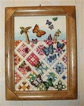 Бабочки на лоскутном одеяле