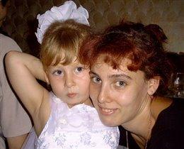 Катя с мамой Юлей