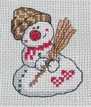 Снеговик с метлой