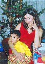 Мама Инна и сынок в Новогодний вечерок..