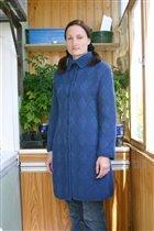 Вязанное пальто, пряжа 'Новозеландская шерсть' Троицк.