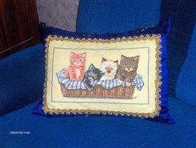 Подушка и коты