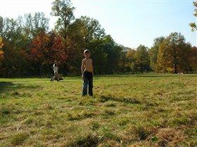1 октября 2005 г Загораем в Ботаническом саду