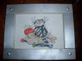 Кот-вышивальщик