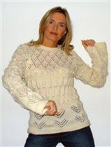 Белый свитер из Бурды
