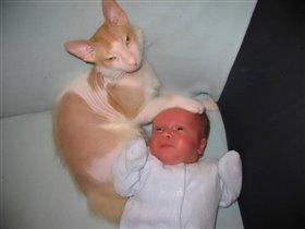 приходите тетя кошка нашу детку покачать ...