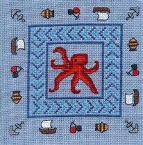 Подушечка с осьминогом