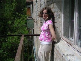 я на балконе