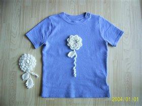 Съемные розы для футболки