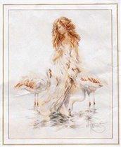 Mulher com Flamingo