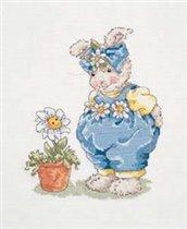 Заяц с маргаритками