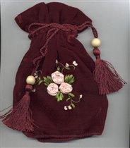 Театральная сумочка/ вышивка лентами
