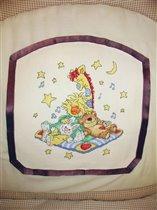 Вышивка на бортик детской кроватки