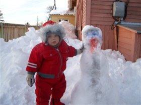 Снежная баба растаяла...
