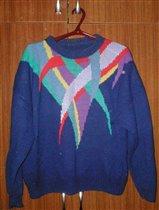 Пуловер с интарсией