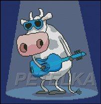 Корова с гитарой