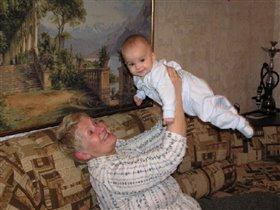 Полина с бабушкой