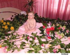 Настюшка и цветы