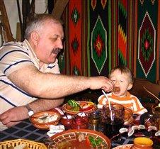 Кушай - кушай, внучок!