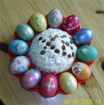 Творожная пасха и яйца