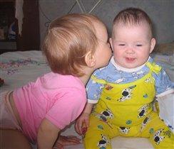 Вот как мы целуемся:)